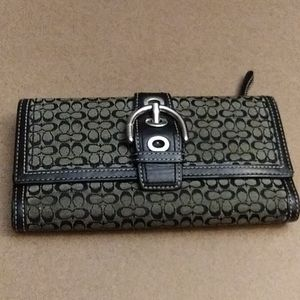 Coach soho buckle signature check book wallet